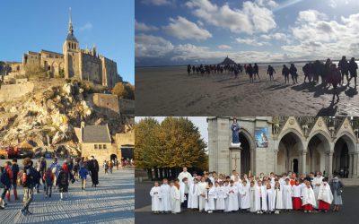 Pèlerinage des servants et servantes au Mont Saint-Michel et au sanctuaire marial de Pontmain