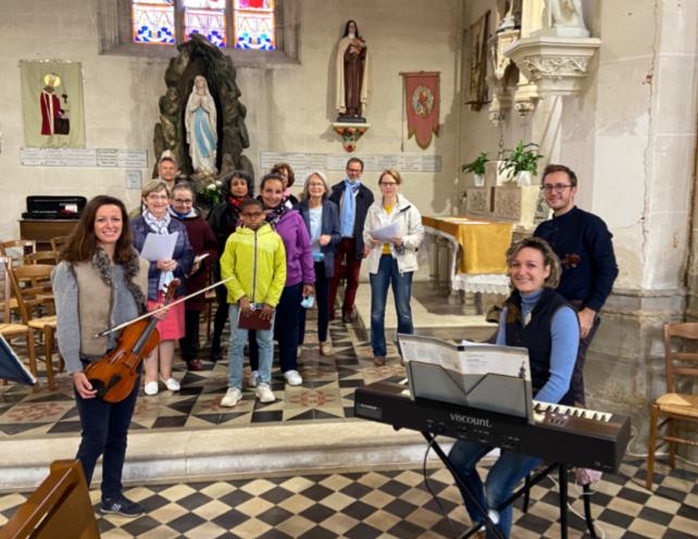 Répétition des chants de la messe Brezolles