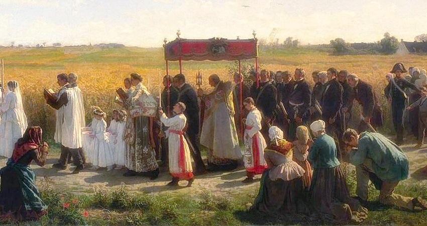 Procession et prière d'intercession pour les fruits de la terre